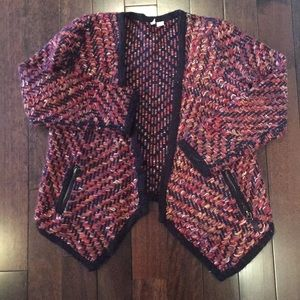Anthropologie sz M chunky sweater knit cardigan